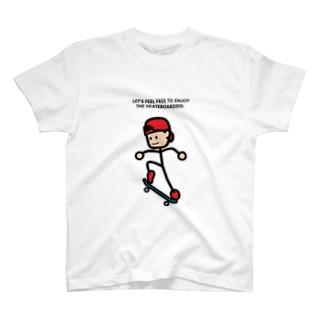 """String skater """"Ollie2"""" Tシャツ"""