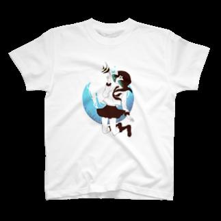 Acabane* Shopの海中少女2 Tシャツ