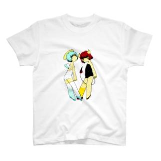 天使と悪魔 Tシャツ