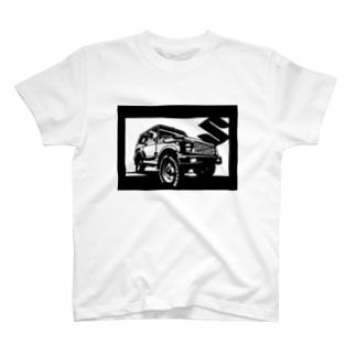 SUZUKI ジムニー JA切り絵デザイン3 Tシャツ