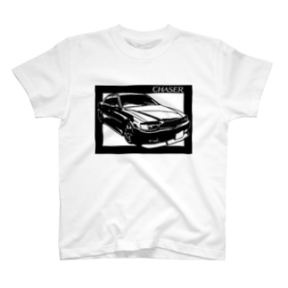 TOYOTAチェイサーX100 切り絵デザイン2 Tシャツ
