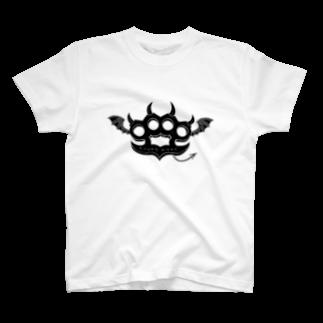 Ryoku のRyoku-Knuckle devil b-white Tシャツ