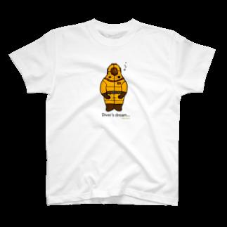 okanoxnekoのダイバー君Tシャツ