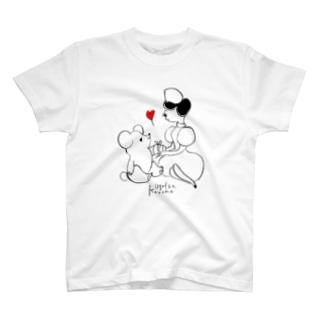 ナースとくま(♡赤) Tシャツ