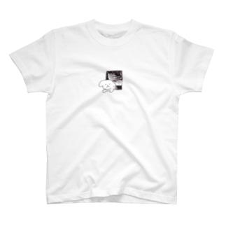 とびらにはさまったいぬ! Tシャツ