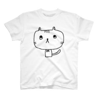 ねこちゃん考え中 Tシャツ