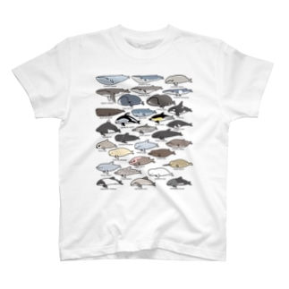 ゆるホエール(横向き) Tシャツ