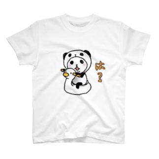 パンダinぱんだ(は?) Tシャツ