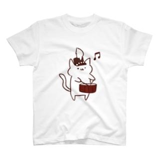 マーチングスネアねこさん Tシャツ