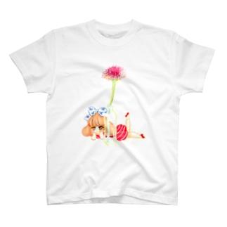 花と私 Tシャツ