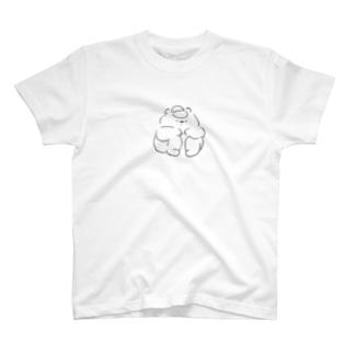 しゃがむくま Tシャツ