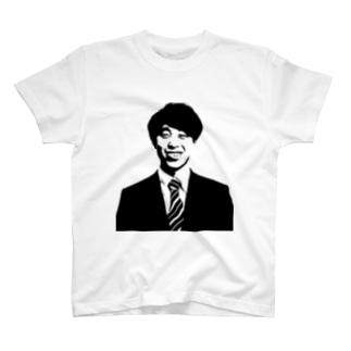 石飛修監督(モノクロver) Tシャツ