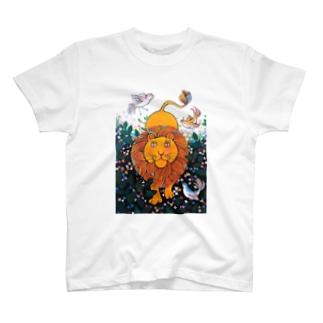 森のライオン Tシャツ