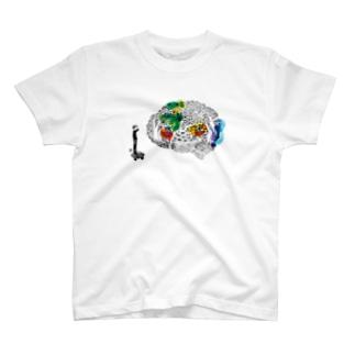 遺伝子から思考へ Tシャツ