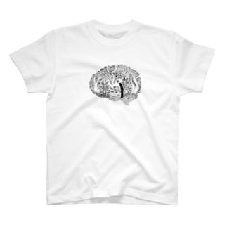 遺伝子から脳へ Tシャツ