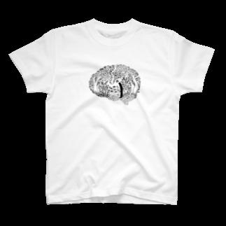 ウチダヒロコ online storeの遺伝子から脳へTシャツ
