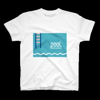 swim pool Tシャツ