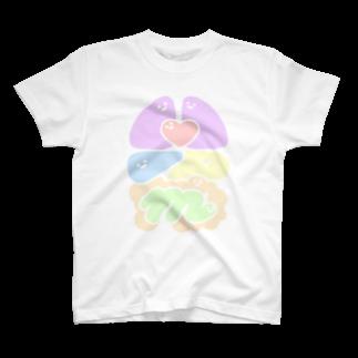 エナメルストア SUZURI店のパステルわた Tシャツ