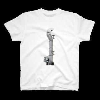 Yusuke SAITOHのダクトと室外機Tシャツ