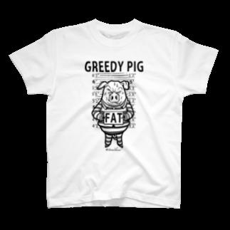 TOMOKUNIのGREEDY PIGTシャツ