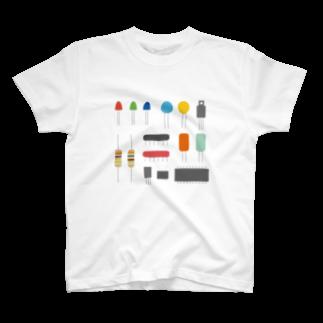mansooonの電子パーツみたいなやつTシャツ