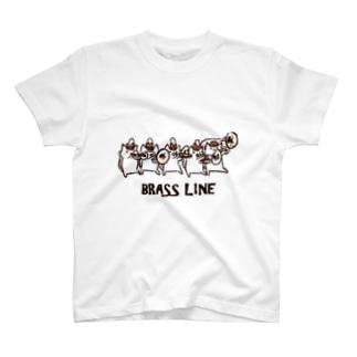 ブラスラインねこさん Tシャツ