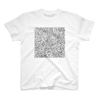 パターン『ぴきぴき』(黒線) Tシャツ