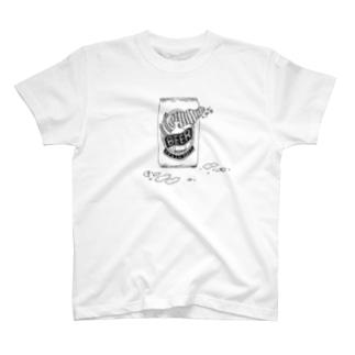 ビールとピーナッツ Tシャツ
