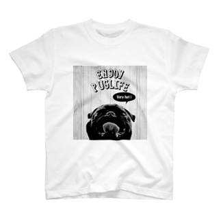 ENJOYPUGLIFE(Black) Tシャツ