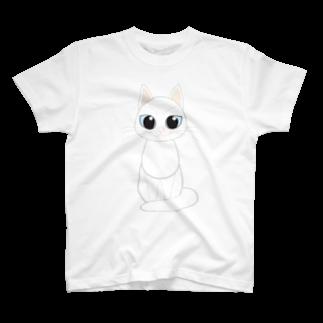 Tar-zansuの白猫 Tシャツ