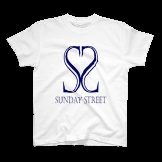 SundayStreetのバンドロゴ3Tシャツ