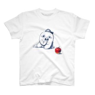 さちおくんとりんご Tシャツ