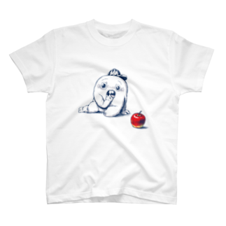 キャットタング鈴原のさちおくんとりんごTシャツ