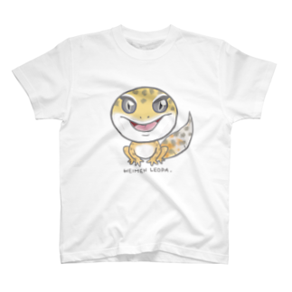 平面レオパ(ハイタン系) Tシャツ