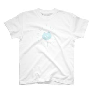 サンシャイン猫ブルー Tシャツ