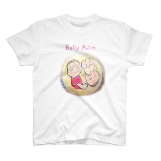 赤ちゃんと月 Tシャツ