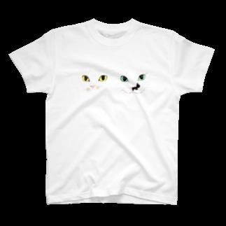 cheeのモズ&オム2匹の微妙な距離感Tシャツ