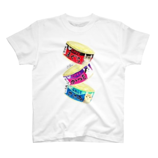 猫缶3個パック Tシャツ