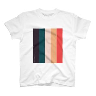 縦縞/パレット Tシャツ