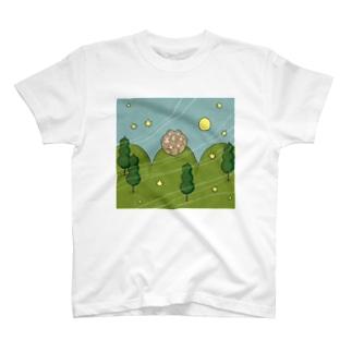 お団子山のさるだんご Tシャツ