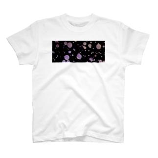 水玉と五線譜 黒 Tシャツ