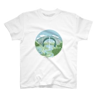 TSUJUNKYO イラストフルカラー Tシャツ