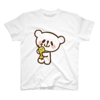 なかよしおやまくまとおやまむし Tシャツ