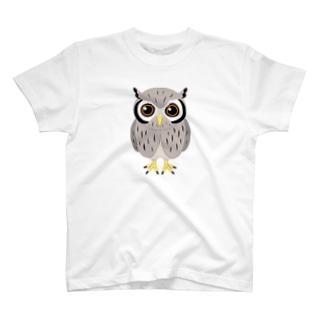 アフリカオオコノハズクver.2 Tシャツ