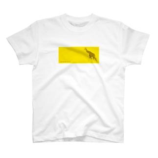 きりん/イエロー Tシャツ