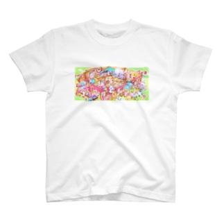 らせんゆむの 森のとくべつな日 Tシャツ