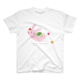 うさぎとかめ Tシャツ