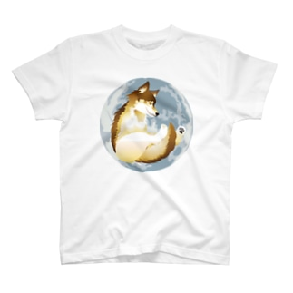 月に狼 Tシャツ