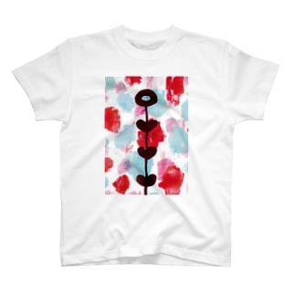 夏の花 Tシャツ