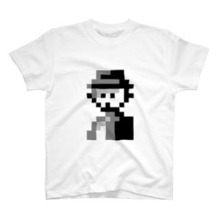 シルクハットの人 Tシャツ